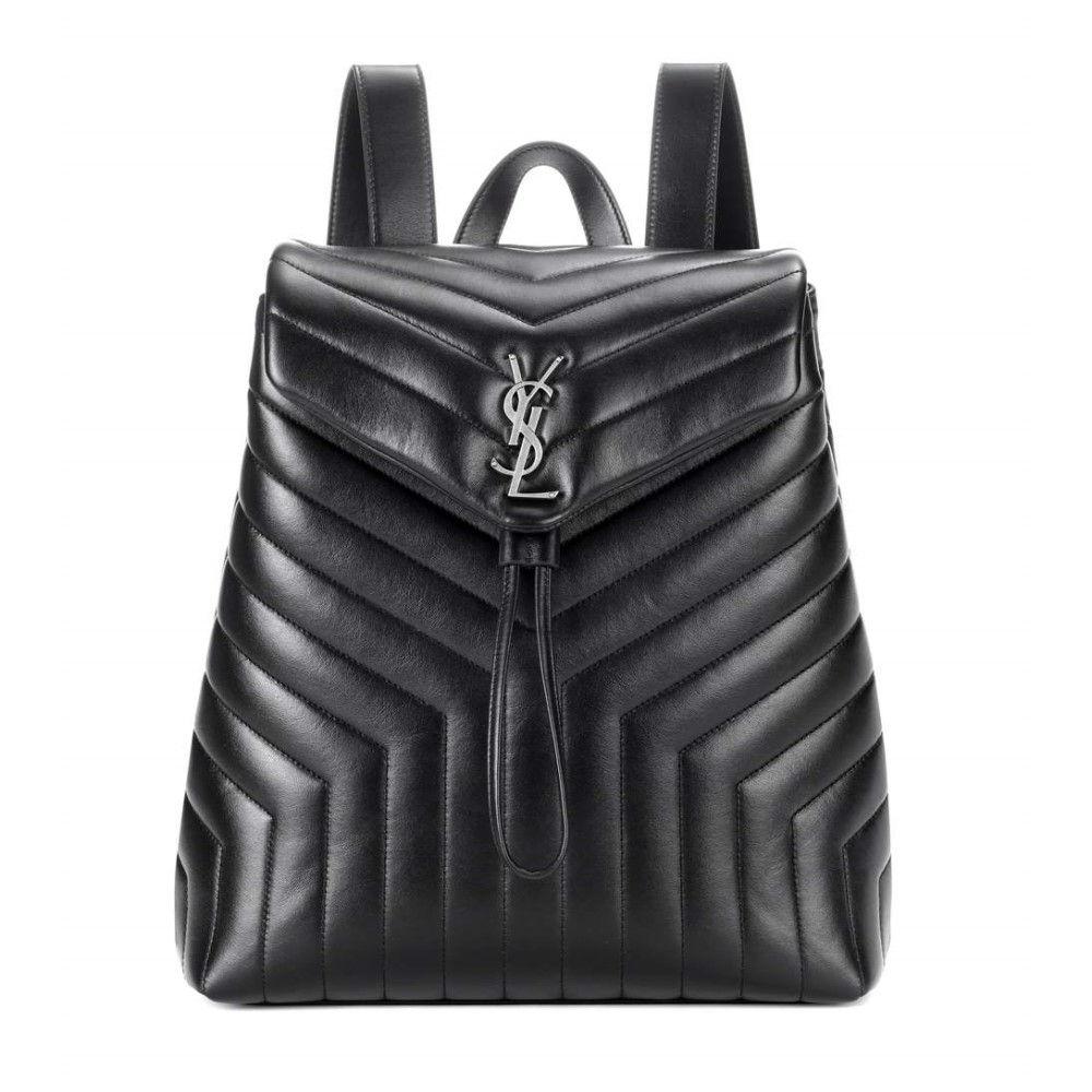 イヴ サンローラン レディース バッグ バックパック・リュック【Loulou Medium Monogram leather backpack】Noir