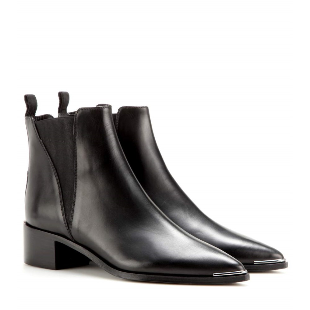 アクネ ストゥディオズ レディース シューズ・靴 ブーツ【Jensen leather ankle boots】Black
