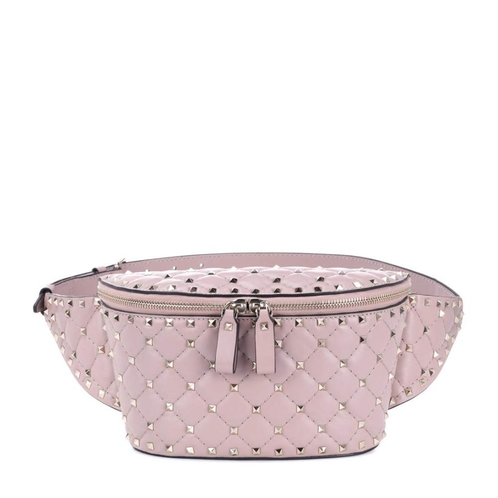 ヴァレンティノ レディース バッグ ボディバッグ・ウエストポーチ【Valentino Garavani Rockstud Spike leather belt bag】