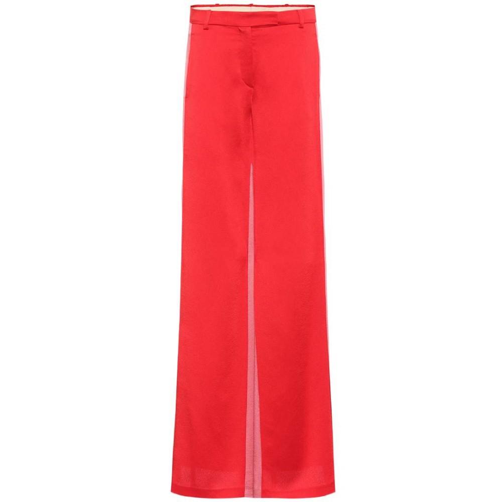 ヴァレンティノ レディース ボトムス・パンツ【Satin trousers】Rosso/Pink