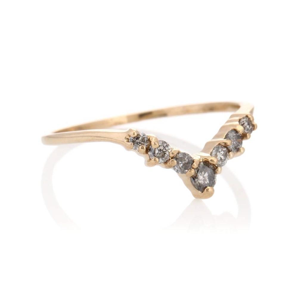 アンナシェフィールド レディース ジュエリー・アクセサリー 指輪・リング【Celestine Tiara 14kt yellow gold ring with diamonds】