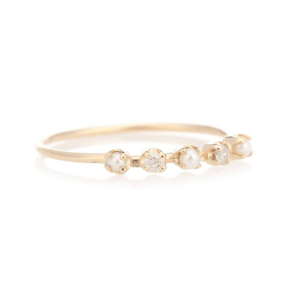 ローレン スチュワート レディース ジュエリー・アクセサリー 指輪・リング【Renee pearl and diamond 14kt gold ring】