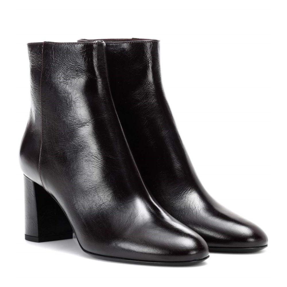 イヴ サンローラン レディース Bordeaux シューズ・靴 70 ブーツ イヴ【Loulou 70 leather ankle boots】Dark Bordeaux, ベスト家具ダイレクト【工場直売】:4a08cb03 --- sunward.msk.ru