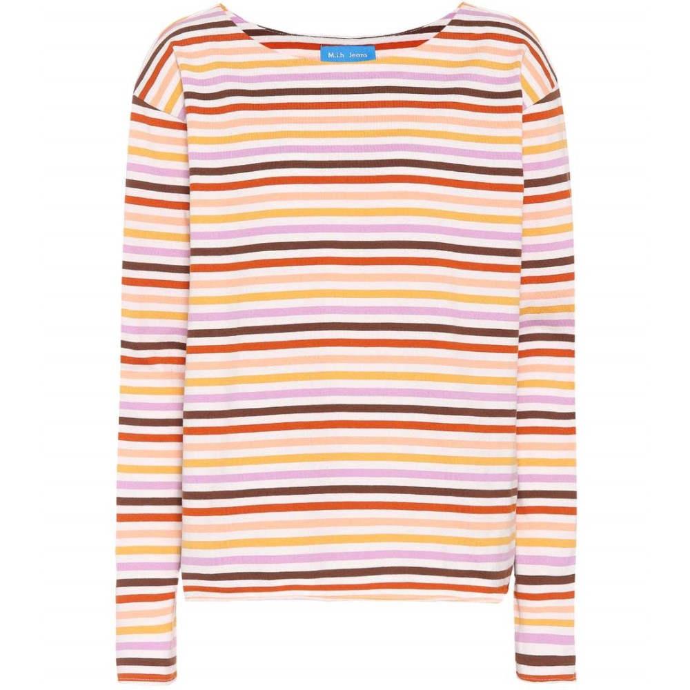 エムアイエイチ レディース トップス【Simple Mariniere striped cotton top】Sunset Multicolor