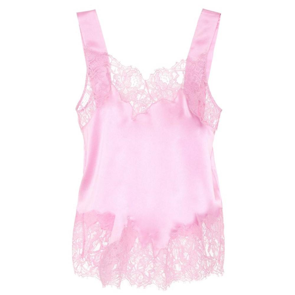 ジバンシー レディース インナー・下着 スリップ・キャミソール【Lace-trimmed silk camisole】Pink