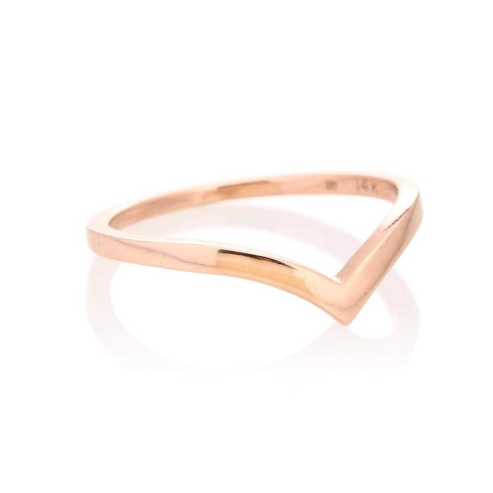アンナシェフィールド レディース ジュエリー・アクセサリー 指輪・リング【Orbit 14kt rose gold ring】