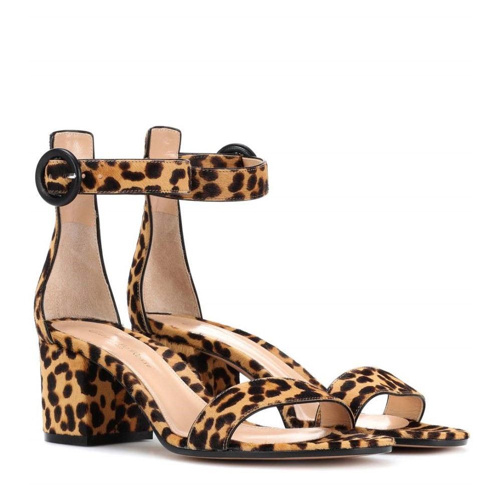 ジャンヴィト ロッシ レディース シューズ・靴 サンダル・ミュール【Versilia 60 leopard-printed sandals】Leopard Print