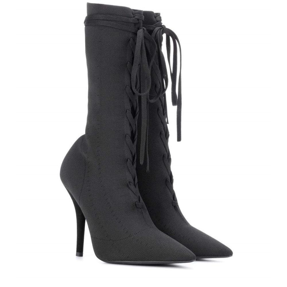 アディダス イージー レディース シューズ・靴 ブーツ【Lace-up knit ankle boots (SEASON 5)】Black