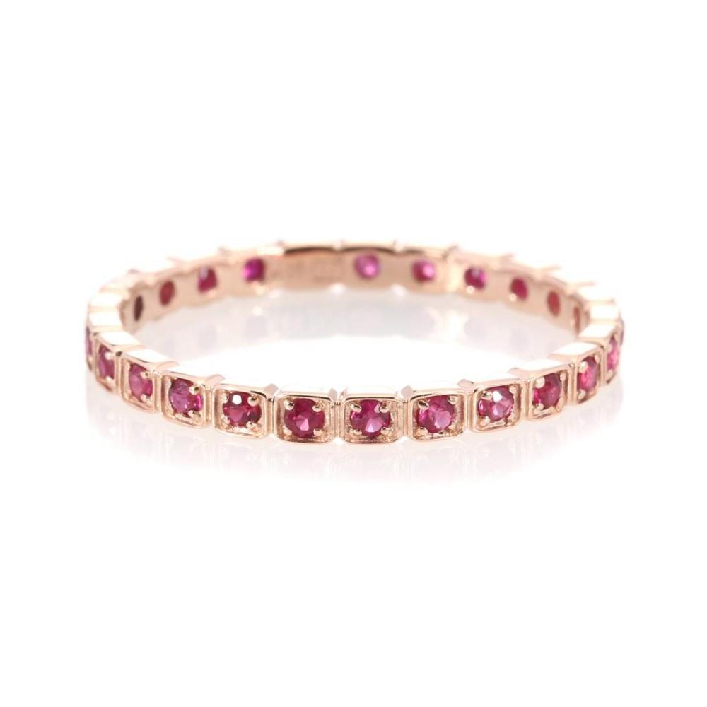 アンナシェフィールド レディース ジュエリー・アクセサリー 指輪・リング【Wheat Eternity 14kt rose gold ring with rubies】