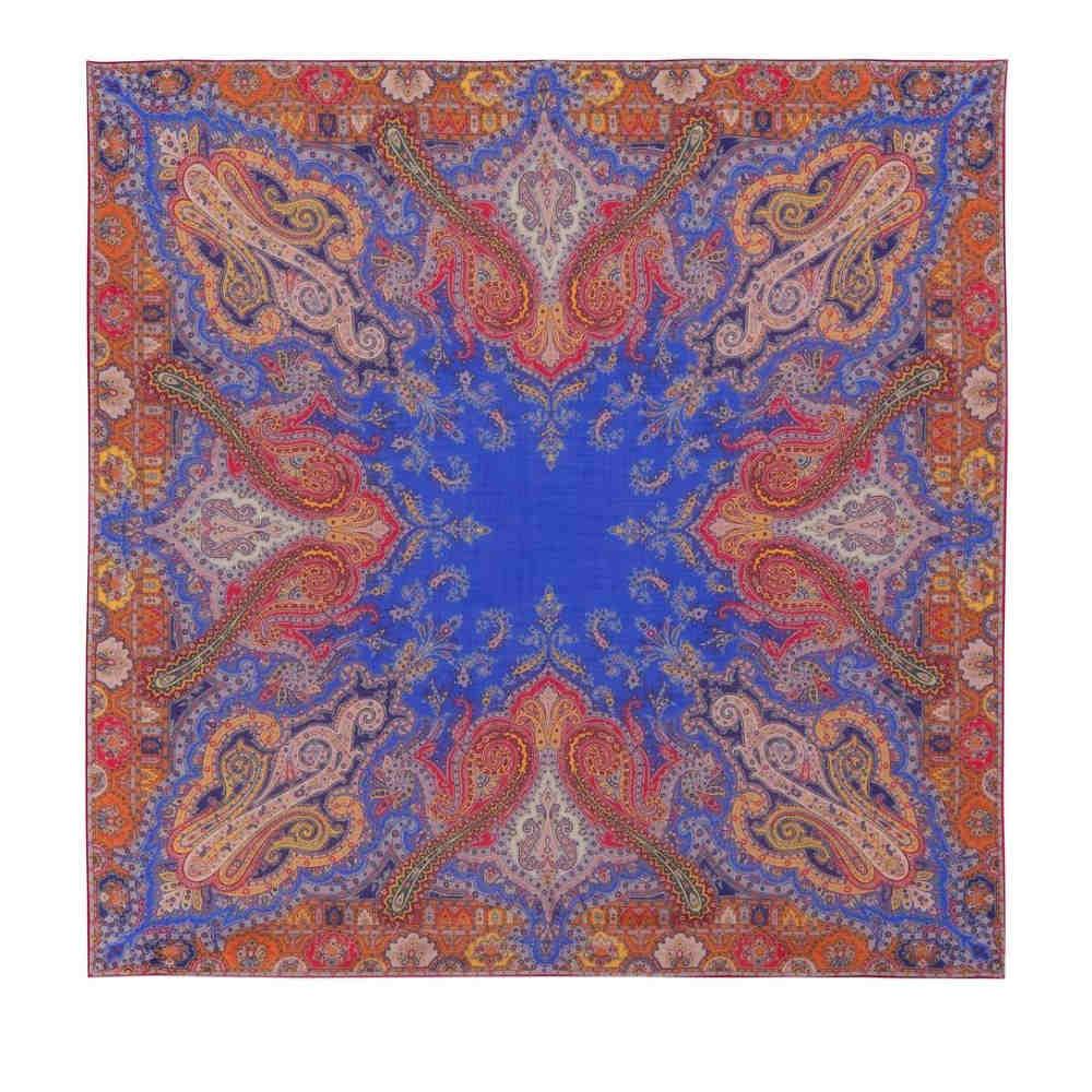 エトロ レディース マフラー・スカーフ・ストール【Printed wool and silk scarf】Multicolor