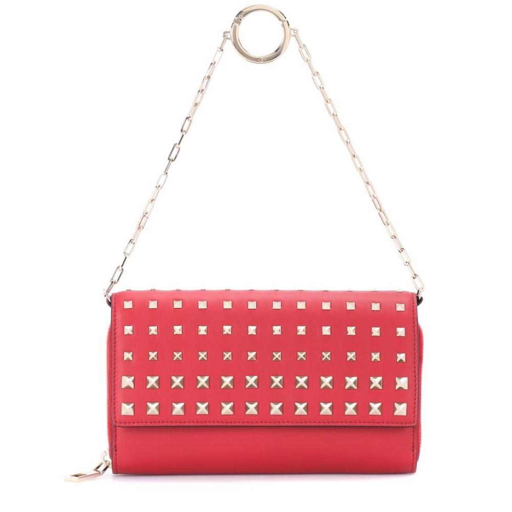 ヴァレンティノ レディース 財布【Valentino Garavani Carry Secrets leather wallet】VALENTINO RED