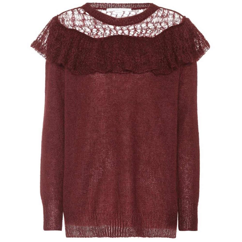 ステラ マッカートニー レディース トップス ニット・セーター【Knitted mohair-blend top】Subergine