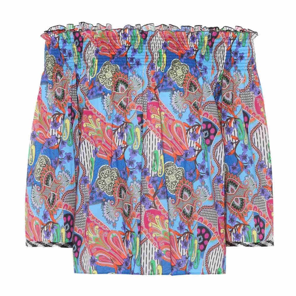 エトロ レディース トップス オフショルダー【Printed off-the-shoulder blouse】Multi