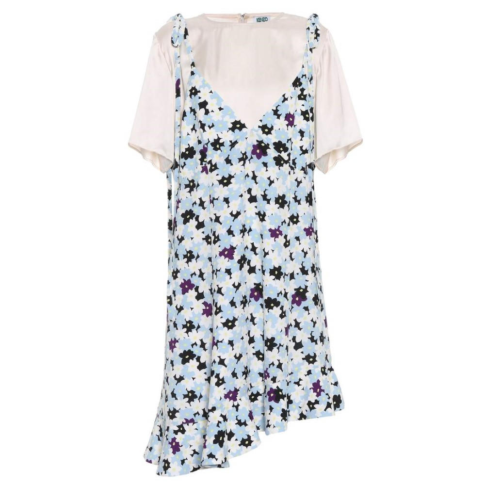 ケンゾー レディース ワンピース・ドレス ワンピース【Floral Jumper dress】Light Blue