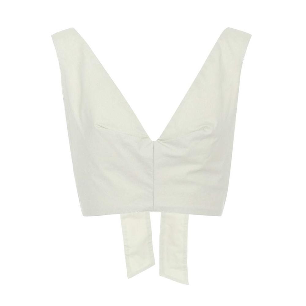 カリタ レディース トップス ベアトップ・チューブトップ・クロップド【Bow Tie cotton cropped top】