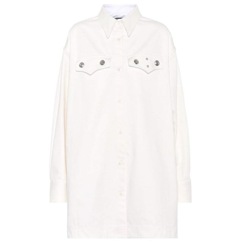 カルバンクライン レディース トップス ブラウス・シャツ【Studded cotton shirt】Optic White