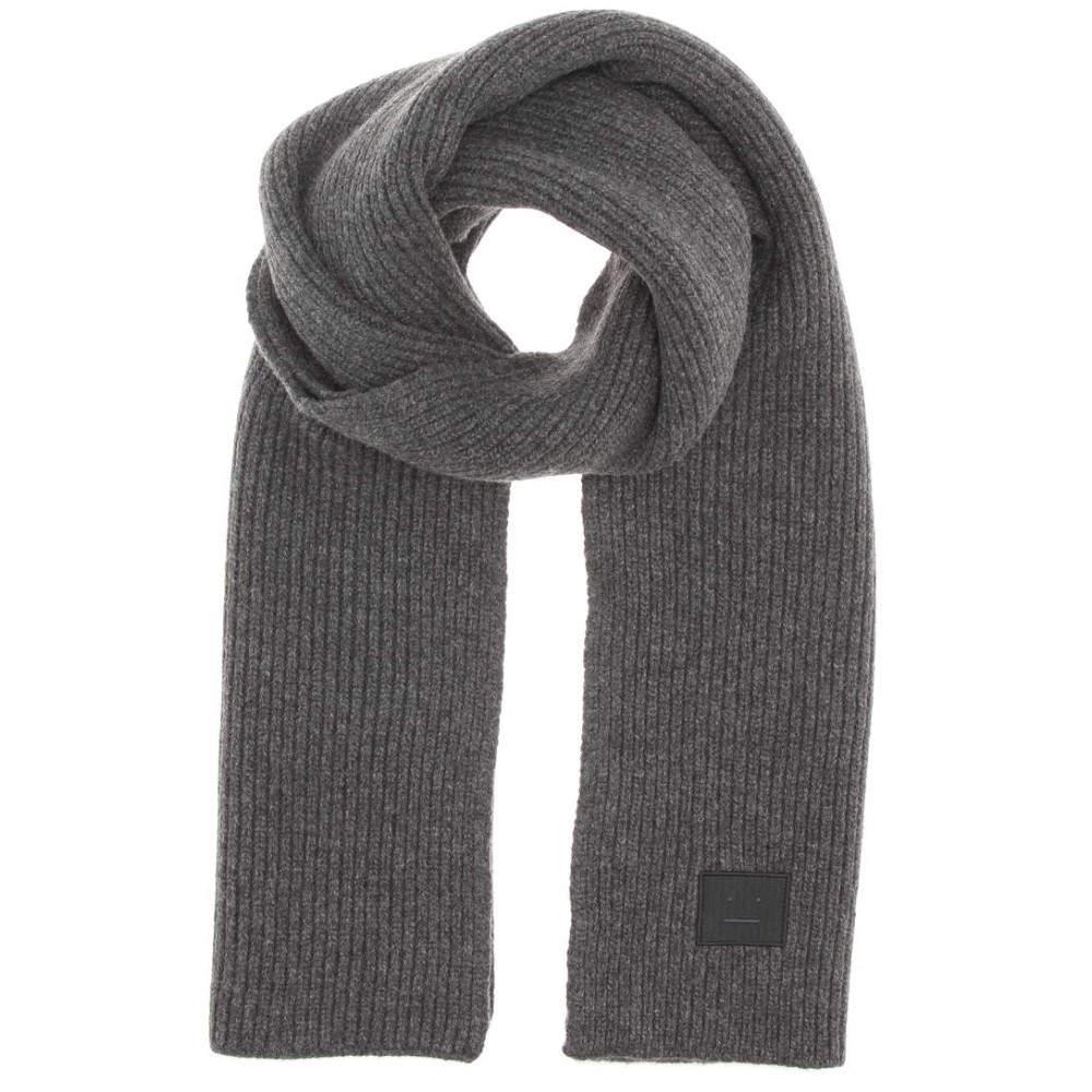アクネ ストゥディオズ レディース マフラー・スカーフ・ストール【Bansy Face knitted wool scarf】Charcoal Melange