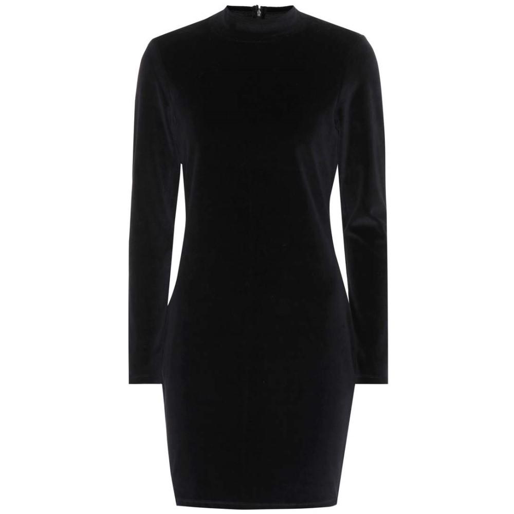 アレキサンダー ワン レディース ワンピース・ドレス ワンピース【Velvet cotton-blend dress】Black