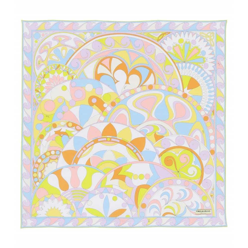 エミリオ プッチ レディース マフラー・スカーフ・ストール【Printed silk scarf】Limone