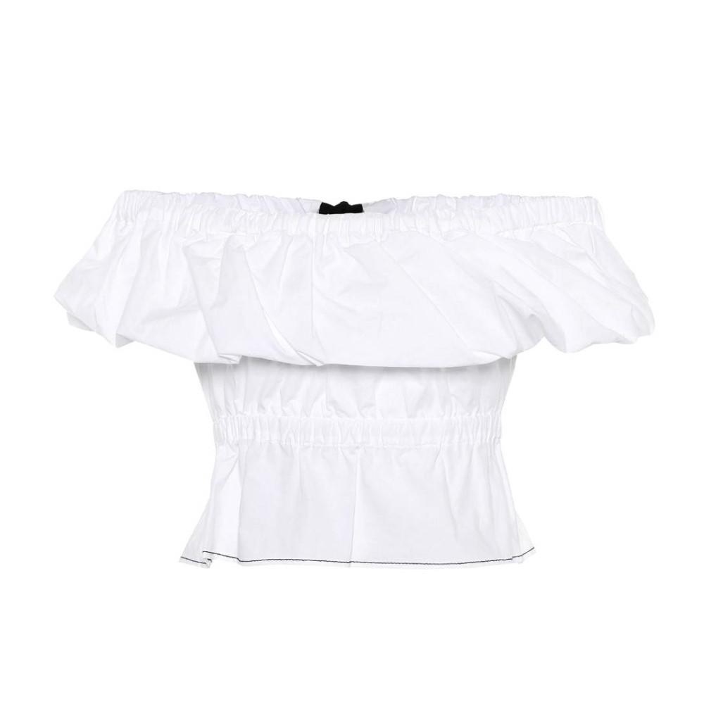 レジーナ ピヨ レディース トップス オフショルダー【Mina off-the-shoulder cotton top】Cotton Poplin Off-White