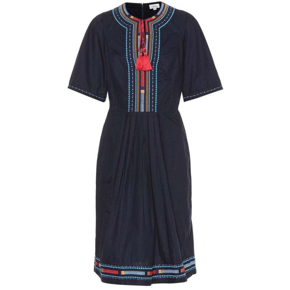 タリサ レディース ワンピース・ドレス ワンピース【Embroidered cotton dress】Navy