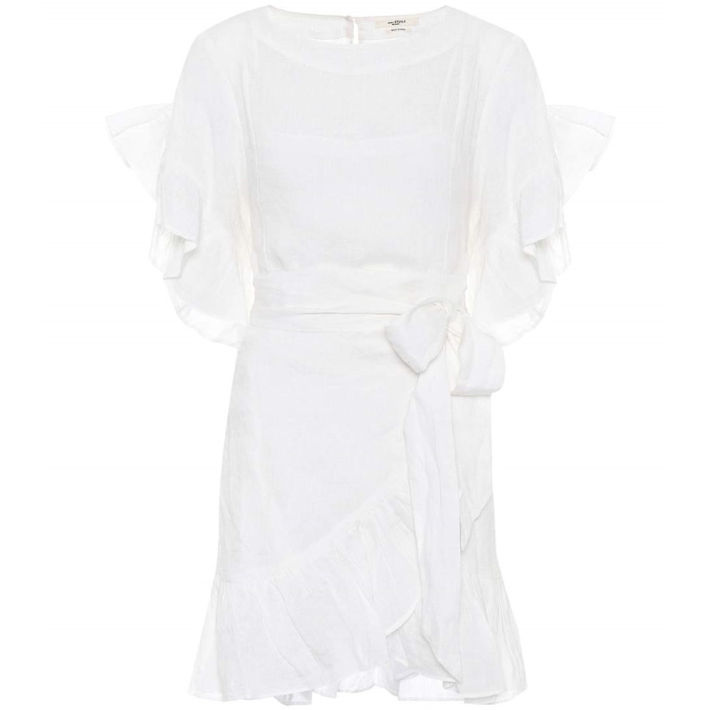 イザベル マラン レディース ワンピース・ドレス ワンピース【Delicia linen wrap dress】White