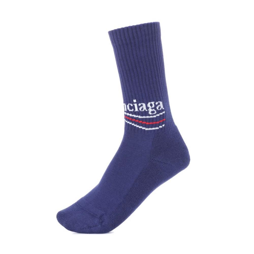 バレンシアガ レディース インナー・下着 ソックス【Cotton-blend socks】Royal Blue