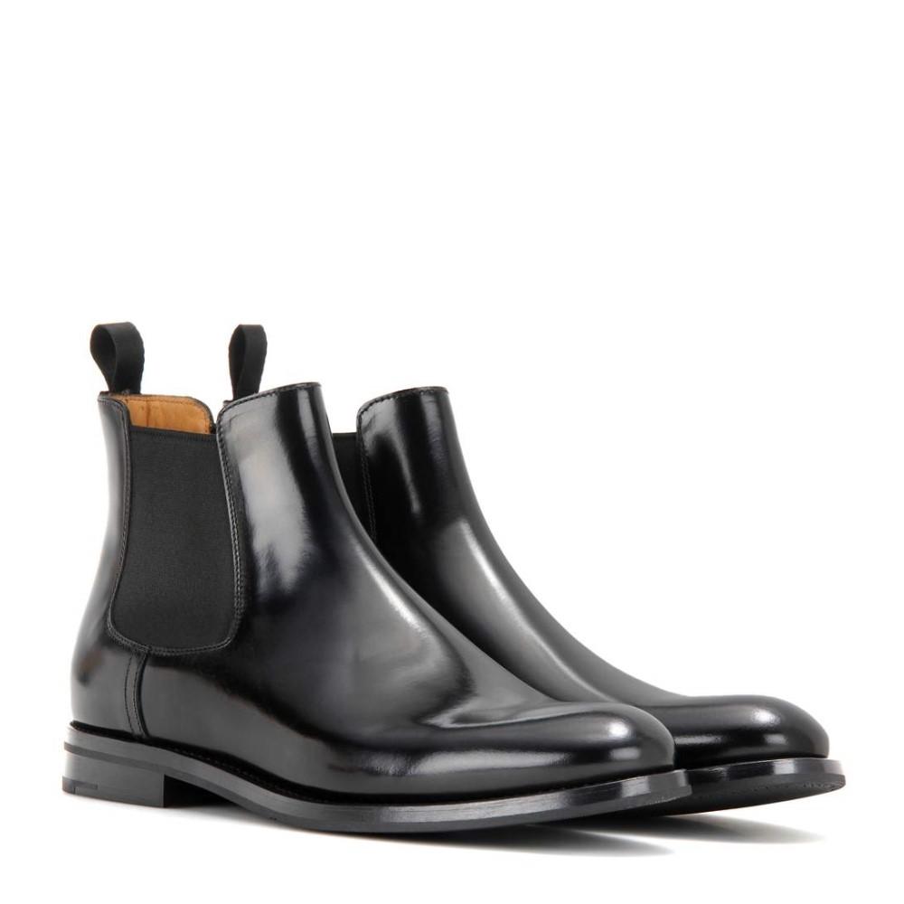 チャーチ レディース シューズ 靴 ブーツ Monmouth leather ankle boots Black 当店では 通夜 通勤 年越し お祝