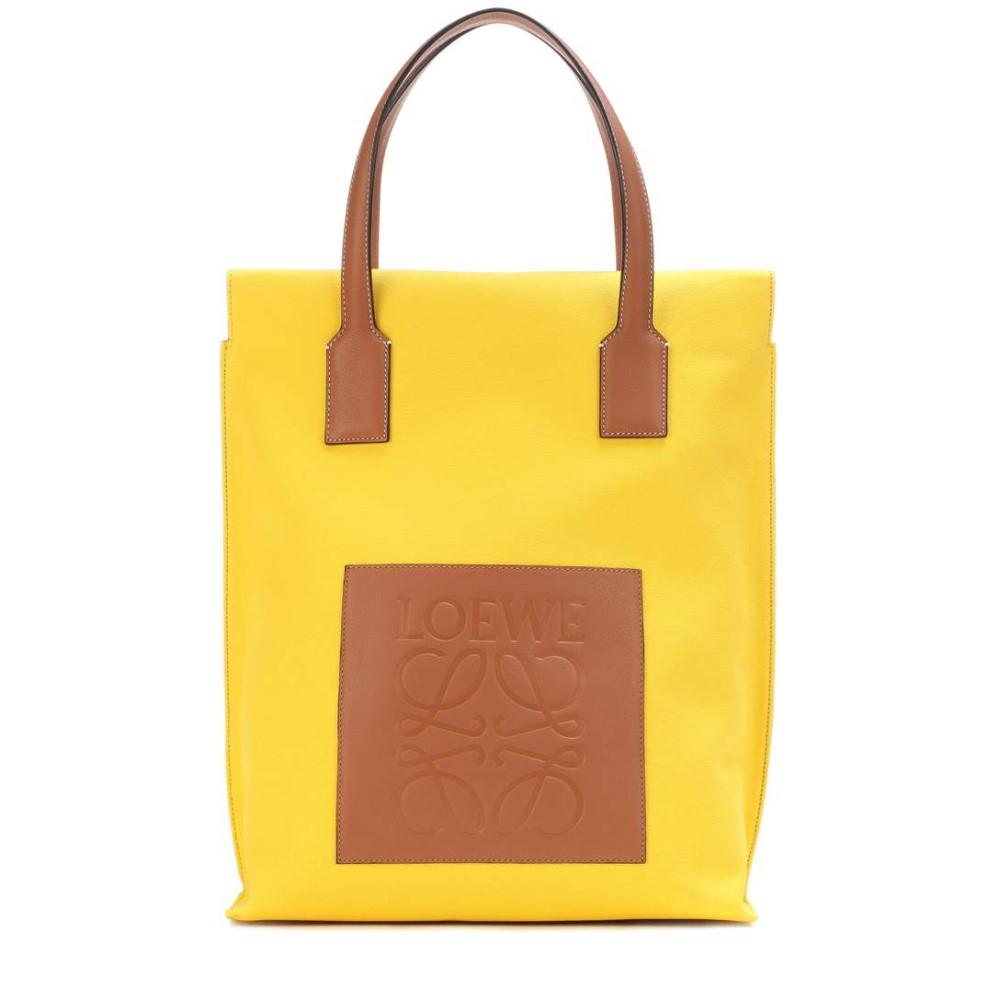 ロエベ レディース バッグ トートバッグ【Shopper canvas tote】Yellow/Tan
