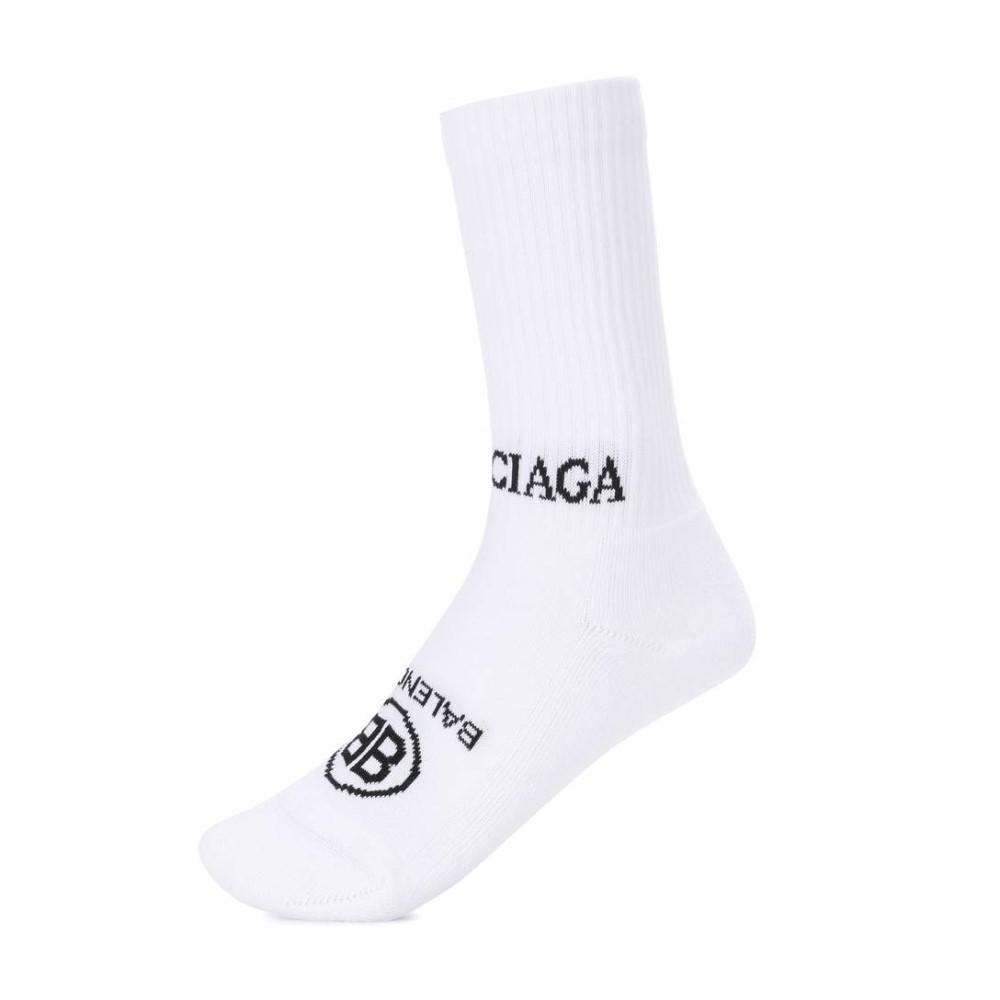 バレンシアガ レディース インナー・下着 ソックス【Cotton-blend socks】White Black