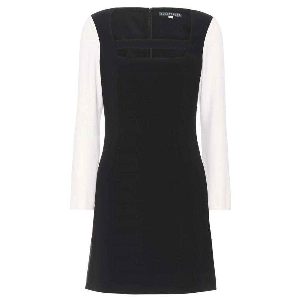 アレクサチャン レディース ワンピース・ドレス ワンピース【Two-Tone cutout dress】Black Off White