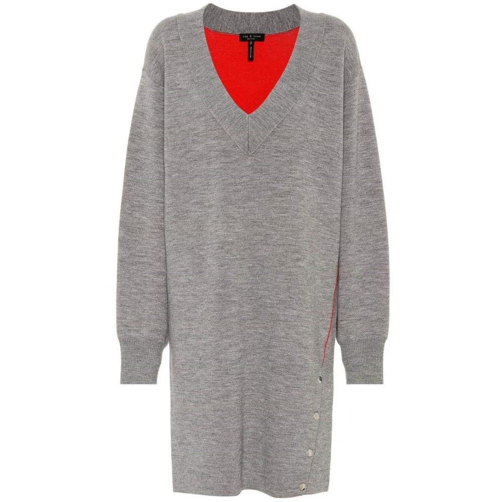 ラグ&ボーン レディース ワンピース・ドレス ワンピース【Saralyn wool and cotton-blend dress】Grey