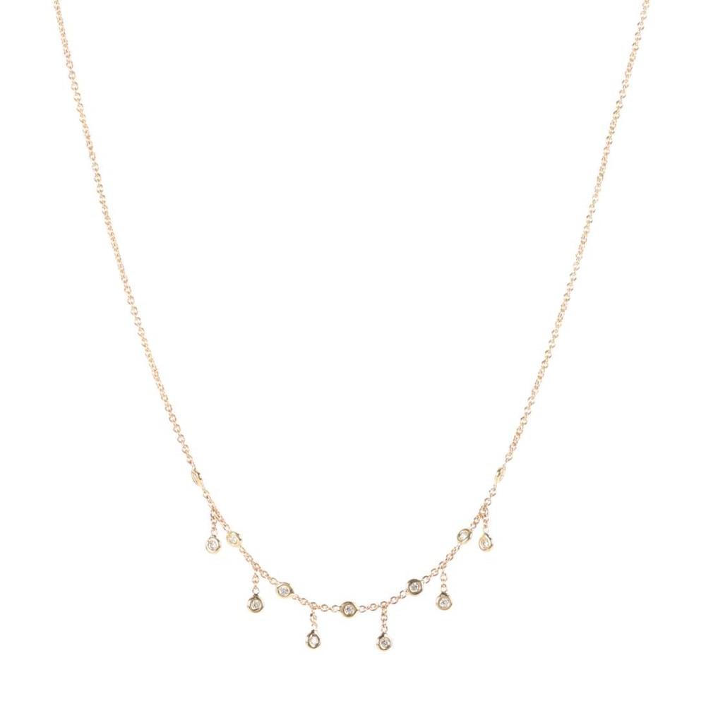 ジャッキーアイチェ レディース ジュエリー・アクセサリー ネックレス【Half Shaker 14kt gold and diamond necklace】