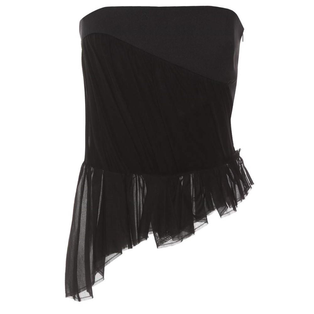 イヴ サンローラン レディース トップス【Cotton and wool corset】Noir