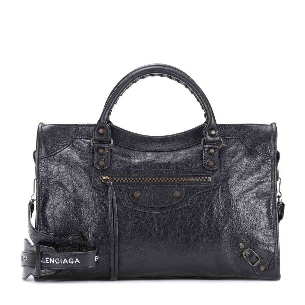 バレンシアガ レディース バッグ ショルダーバッグ【Classic City Medium leather shoulder bag】Noir/Light Blanc
