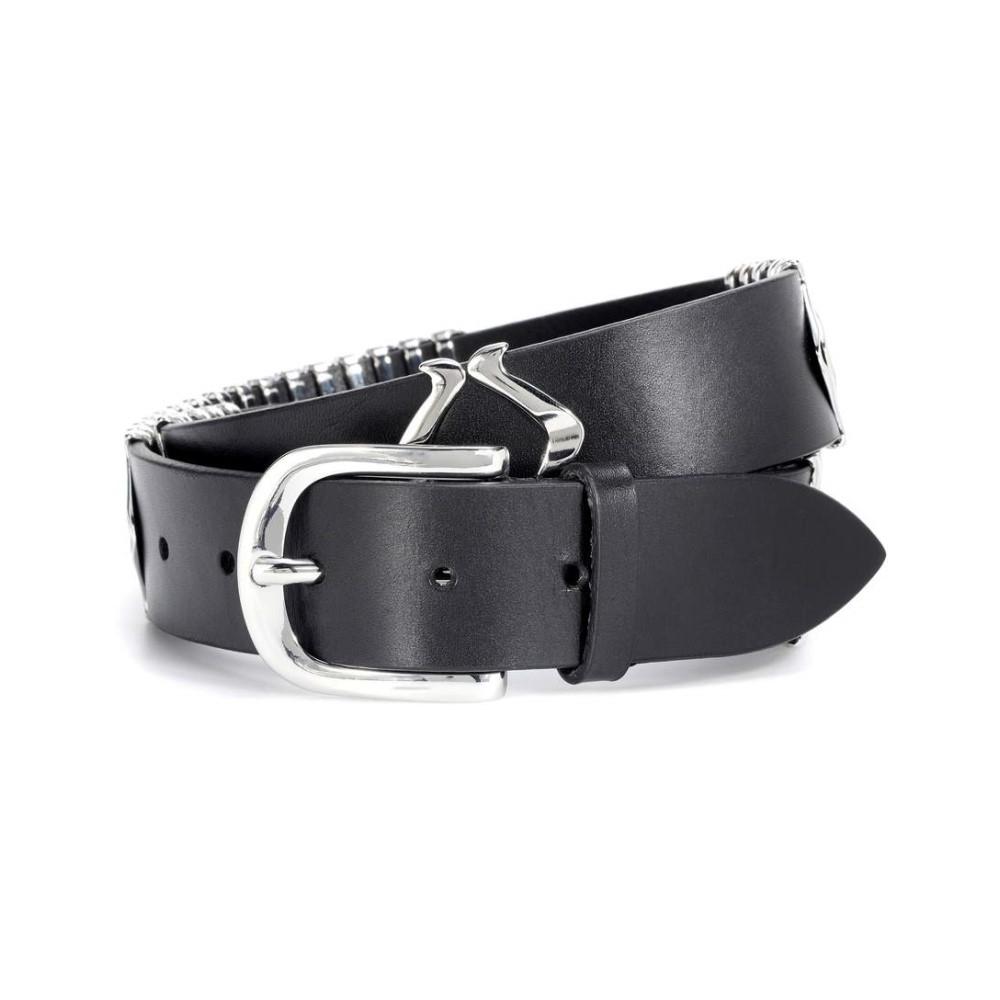 イザベル マラン レディース ベルト【Tehora embellished leather belt】Black