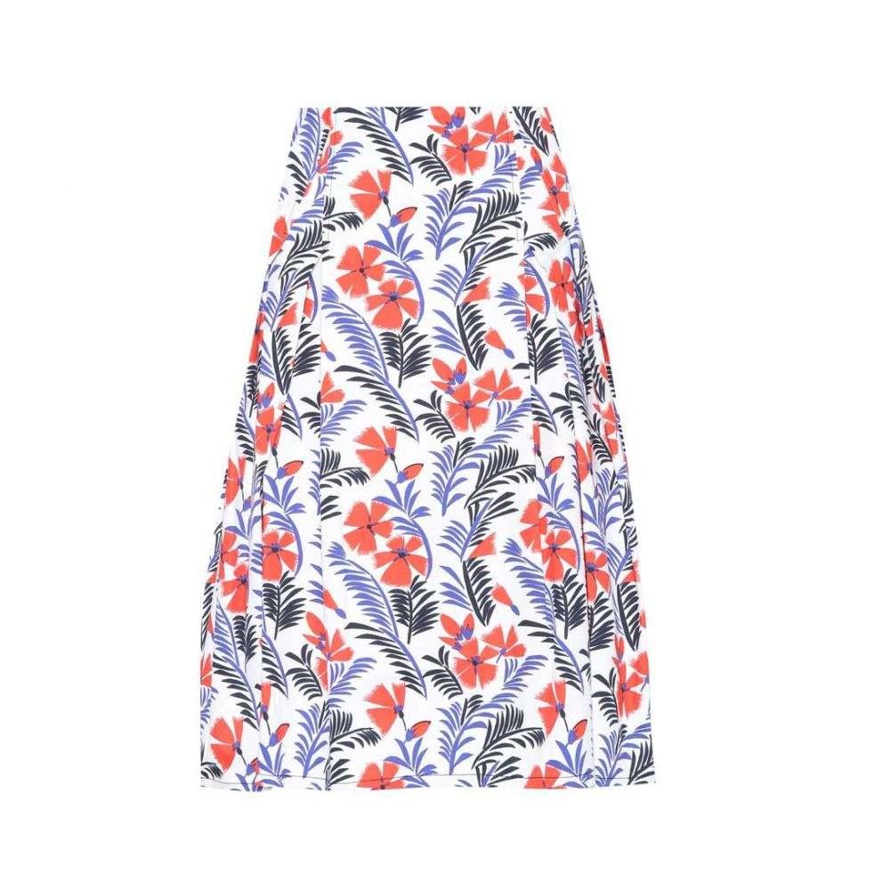 キャロリーナ ヘレラ レディース スカート【Party printed cotton skirt】Red/Blue/Navy