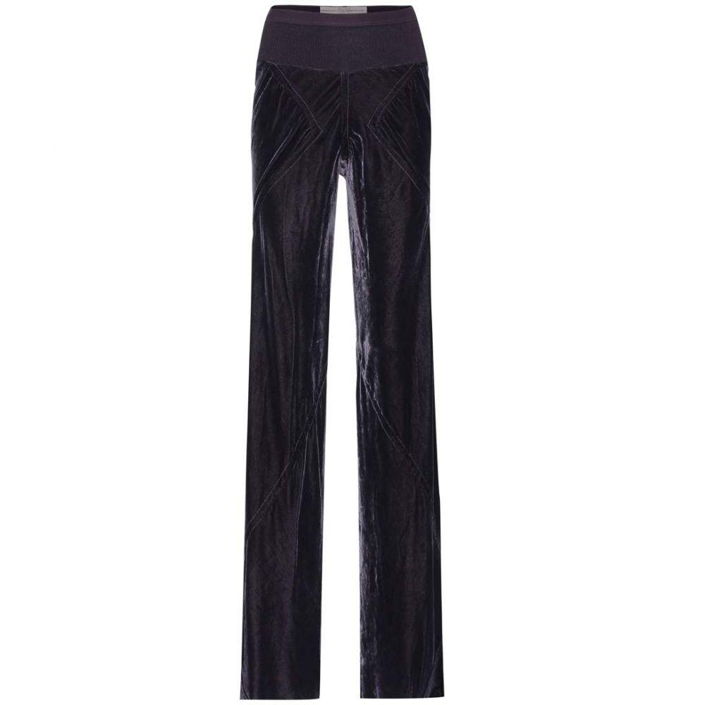 リック オウエンス レディース ボトムス・パンツ【Velvet trousers】plum