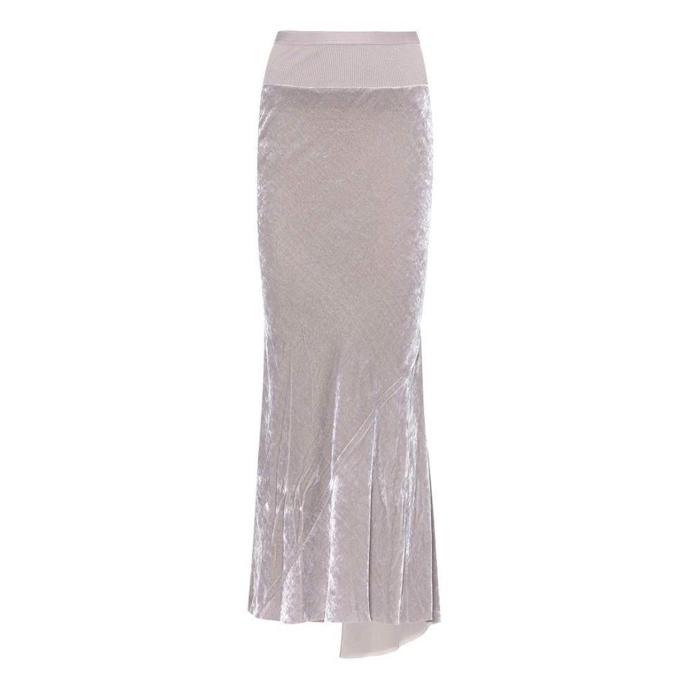 リック オウエンス レディース スカート【Velvet skirt】Lilac