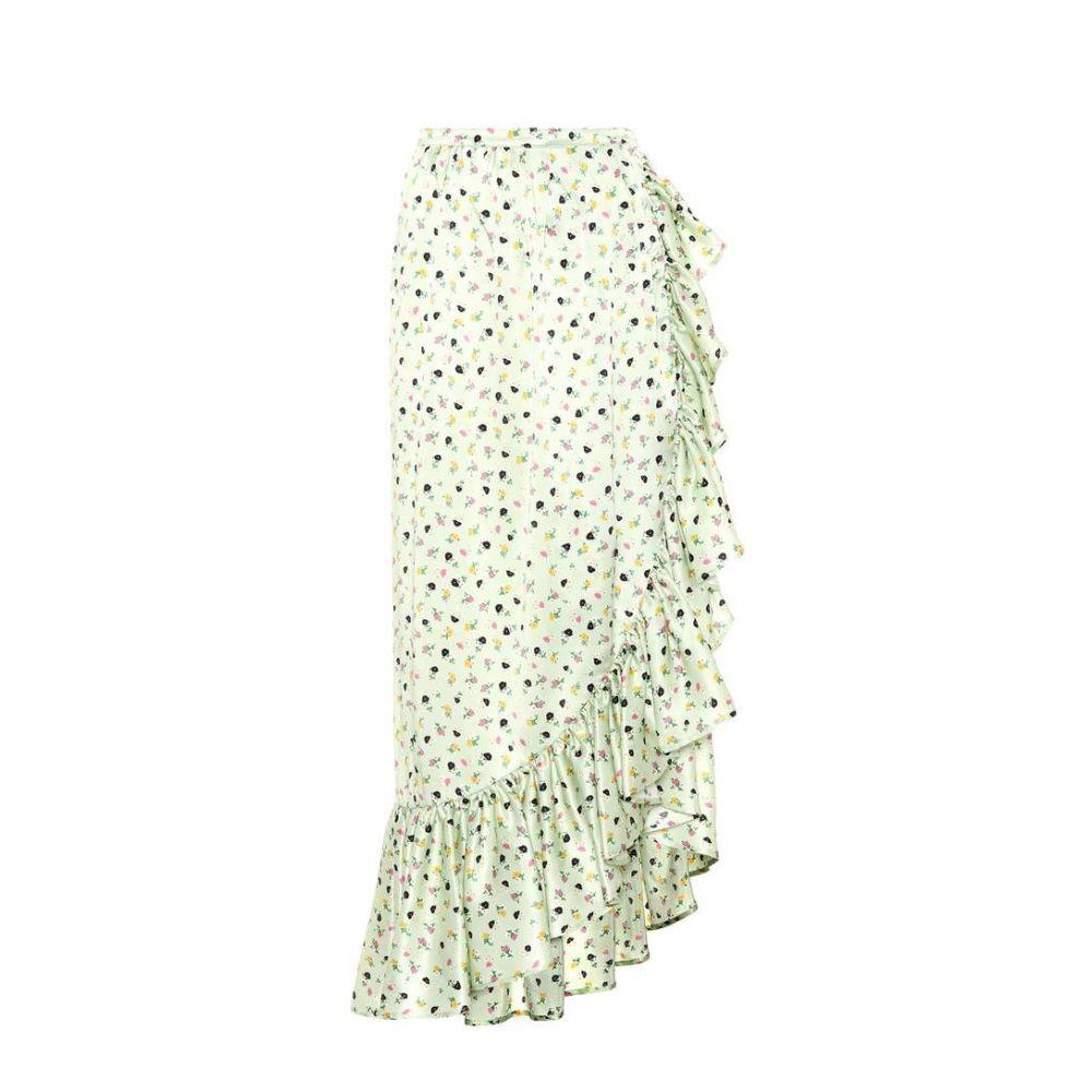 アティコ レディース スカート【Floral-printed silk skirt】Floral