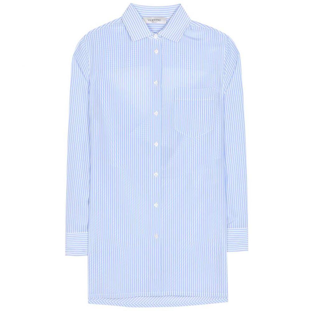 ヴァレンティノ レディース トップス ブラウス・シャツ【Striped silk shirt】