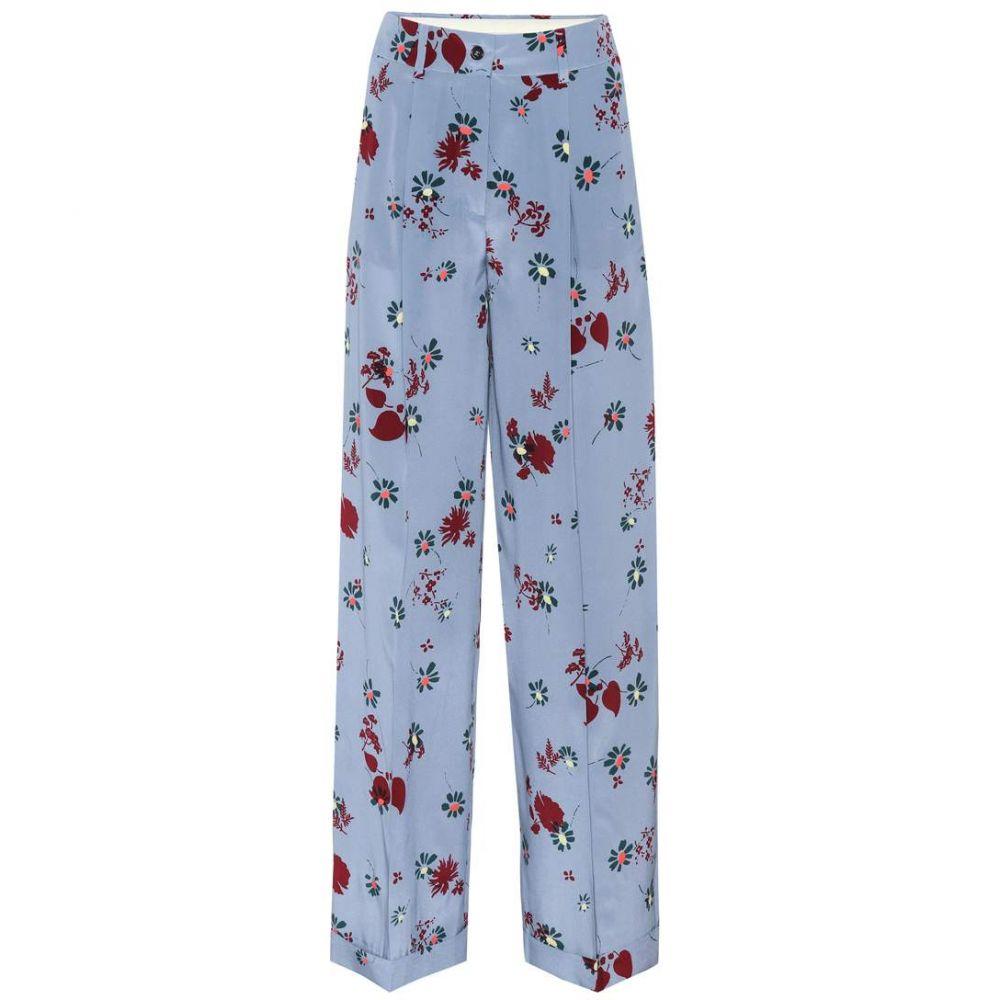 ヴァレンティノ レディース ボトムス・パンツ【Printed silk trousers】Nube