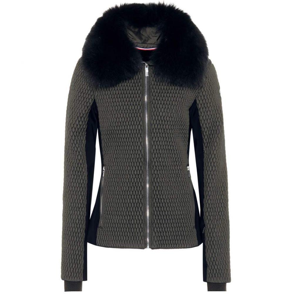 フザルプ レディース スキー・スノーボード アウター【Montana II fur-trimmed ski jacket】Forest Night