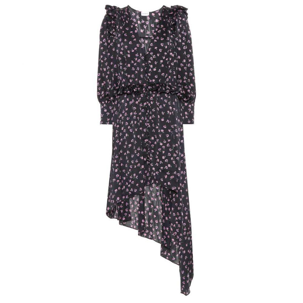 マグダ ブトリム レディース ワンピース・ドレス ワンピース【Tarragona printed silk dress】Black, 灯台美ハーブ園 dcb40a43
