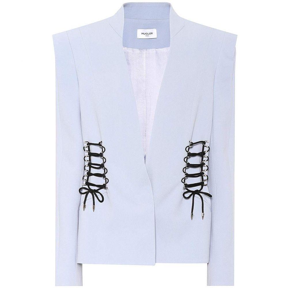 ミュグレー レディース アウター スーツ・ジャケット【Embellished crepe blazer】Mystic