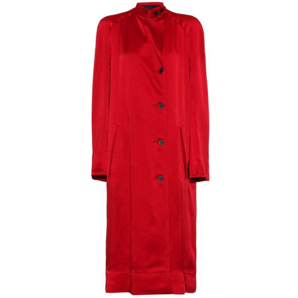 ハイダー アッカーマン レディース アウター コート【Satin coat】Red Shiny