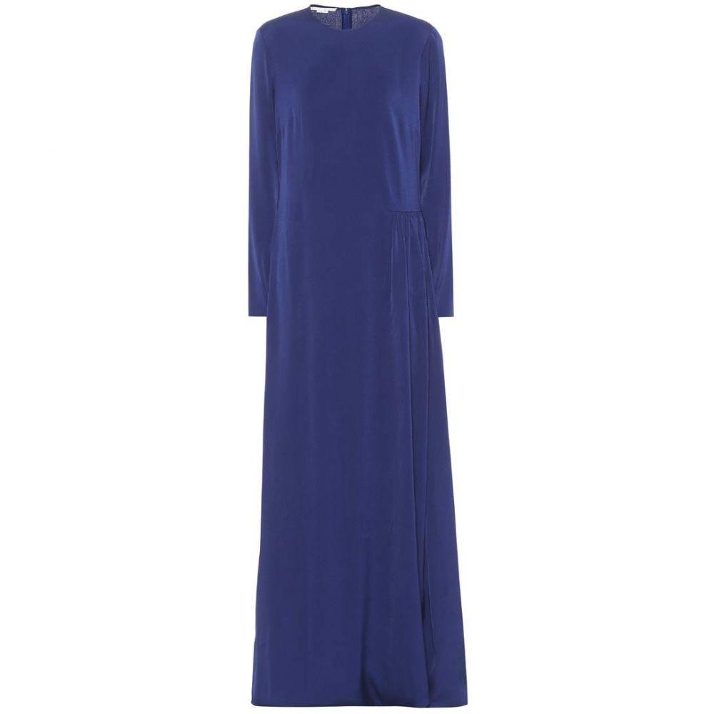 ステラ マッカートニー レディース ワンピース・ドレス ワンピース【Crepe maxi dress】Sapphire Blue