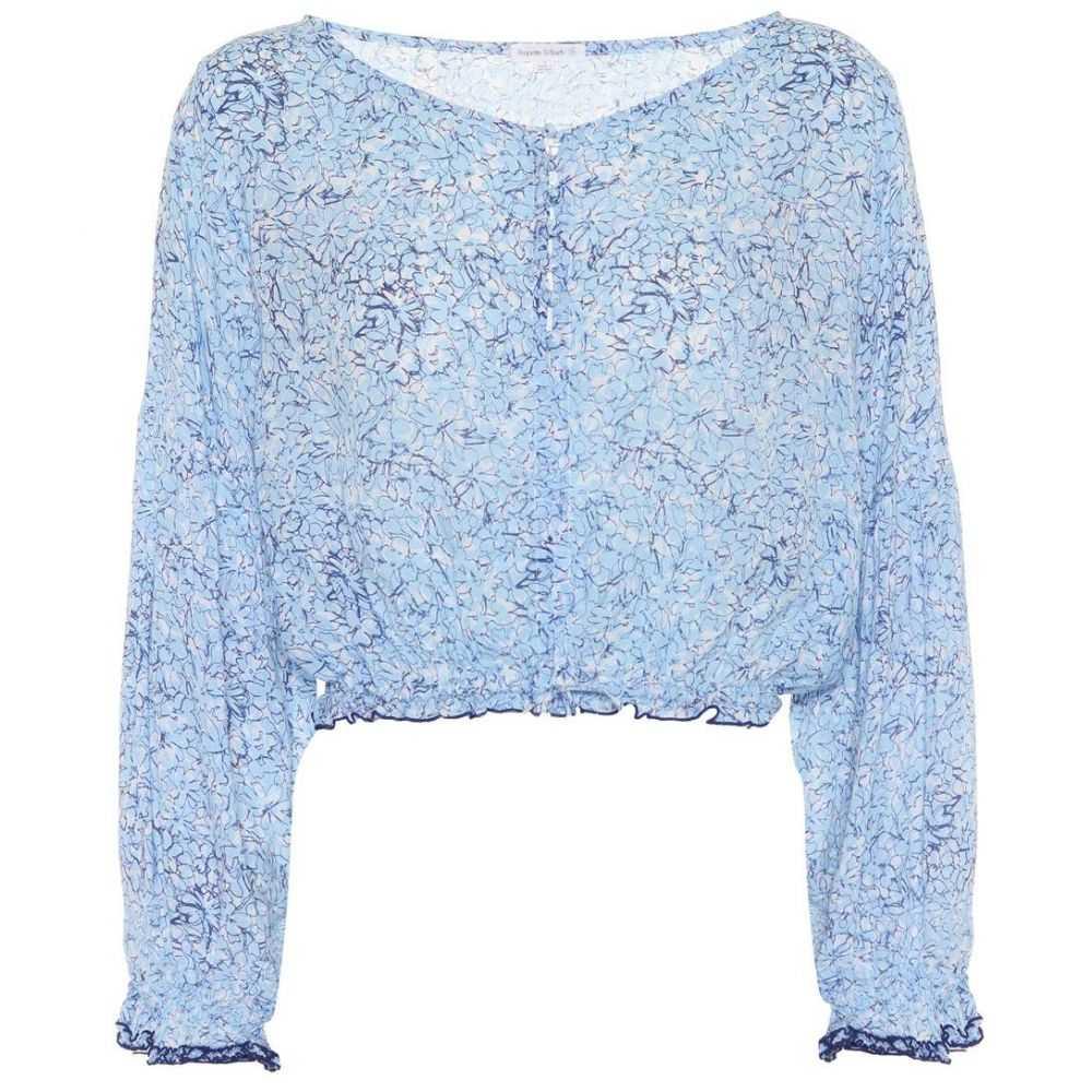 プーペット セント バース レディース トップス ブラウス・シャツ【Bety floral-printed blouse】Blue Joy