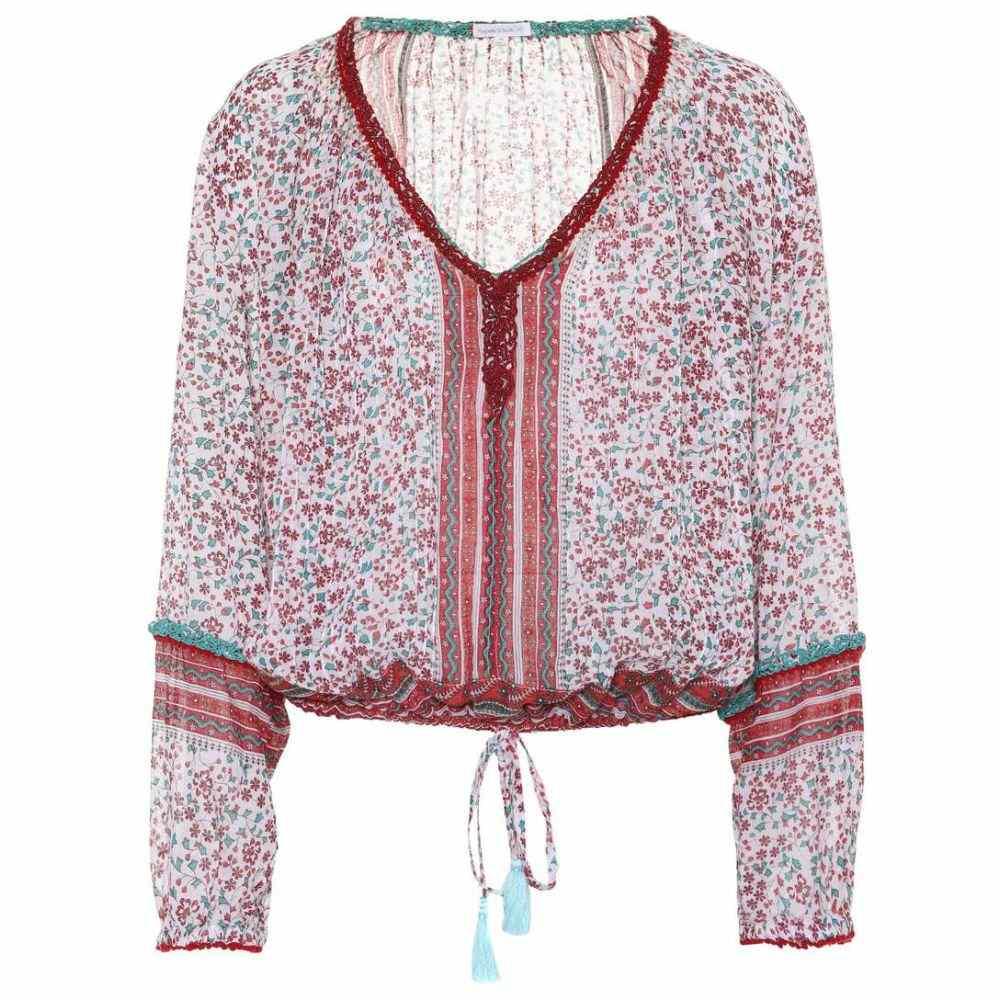 プーペット セント バース レディース トップス ブラウス・シャツ【Bibi tasseled cotton blouse】White/Pink/Jasmine