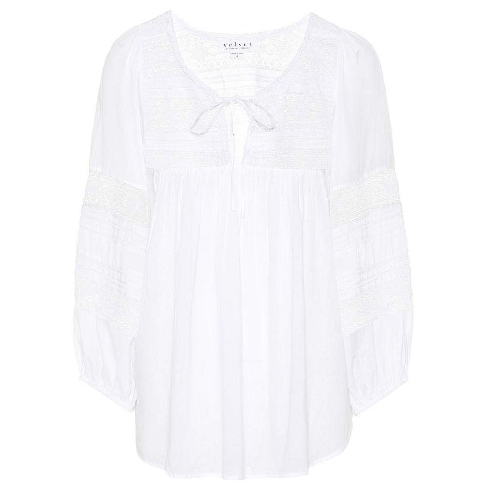 ベルベット グラハム&スペンサー レディース トップス ブラウス・シャツ【Evie cotton blouse】White